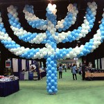 Balloon Sculpture of  Menorah 20'  tall