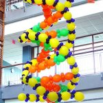 Three-story-high Balloon Sculpture of DNA molecule