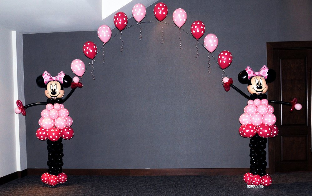 Mickey mouse balloon arch for Balloon decoration minnie mouse