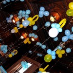 Balloon Ceiling for Baby Shower