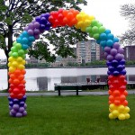 Rainbow Garland Balloon Arch