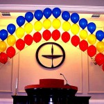 Rainbow Balloon Arch for Church