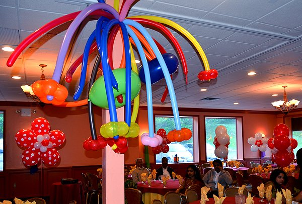 Top of column decoration for Balloon decoration for kids