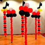 Musical Balloon Columns
