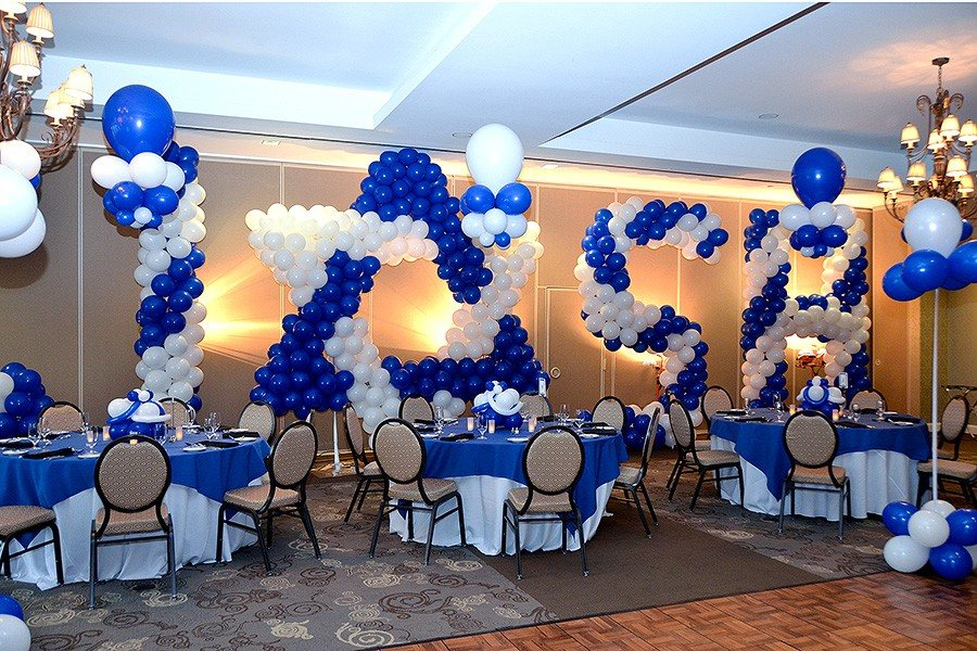Bar bat mitzvahs big balloon sculpture for 7 star balloon decoration