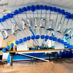Name Balloon Arch with Backdrop