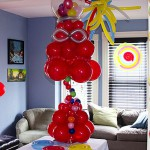 Candy Machine Balloon Centerpiece