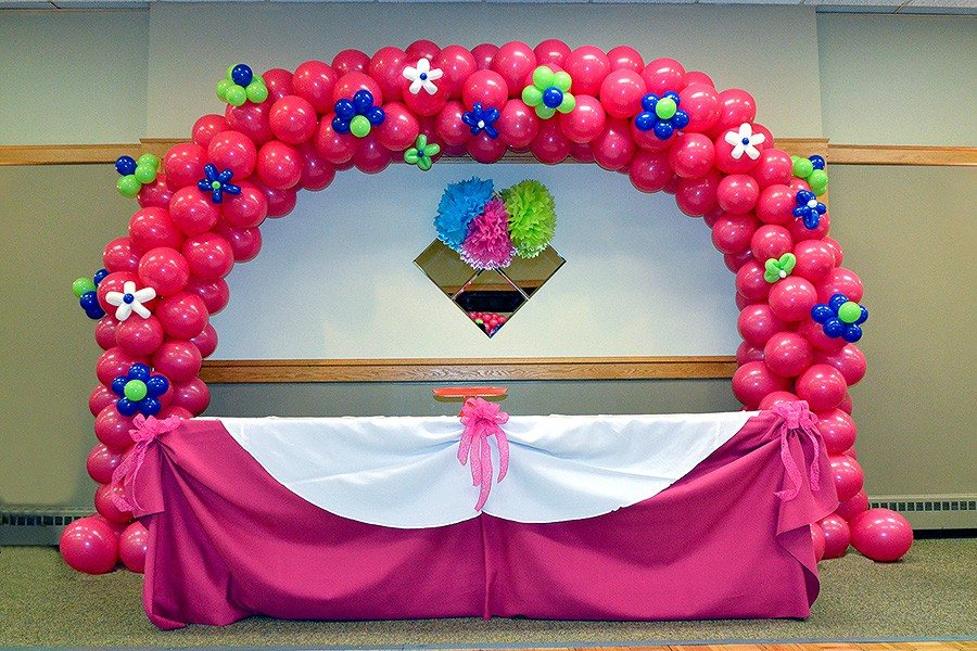 Universal balloon arch for Balloon decoration ideas for 1st birthday