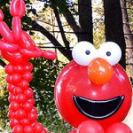 Balloon Sculpture Of Big Elmo