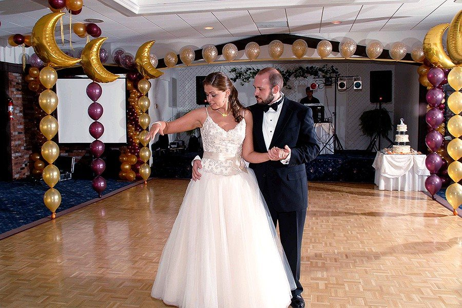 Wedding decorations wedding dance floor decorations relatively tricky work large room with low ceiling first dance junglespirit Image collections