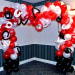 Red White and Black Wedding Arch