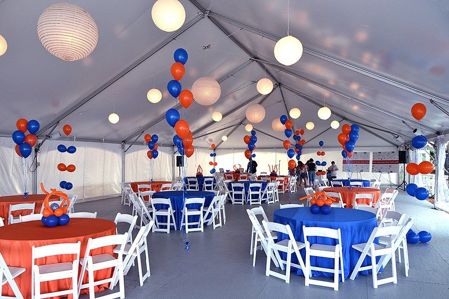Company picnic party . Very simple balloon centerpieces to bring ...