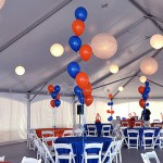 Red and Blue Balloon Centerpieces