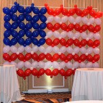 American Flag Balloon Wall