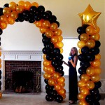 Gold and Black Arch and Columns