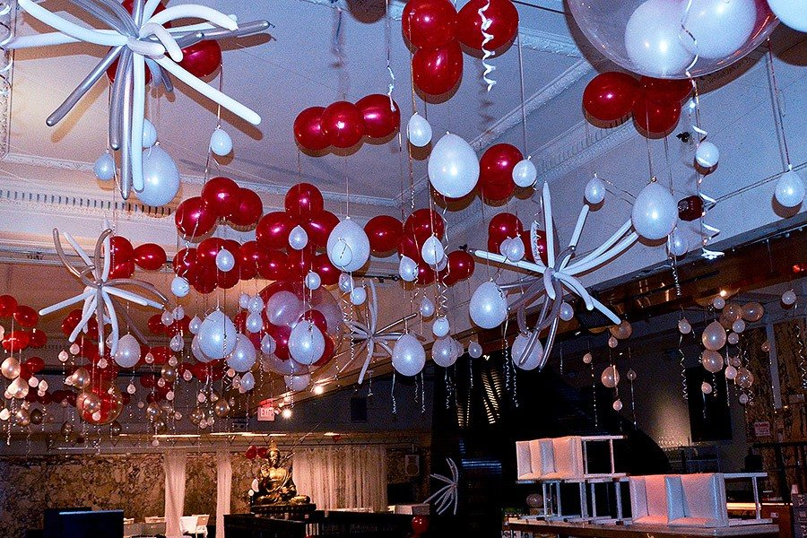 universal balloon ceiling decor - Christmas Balloon Decor