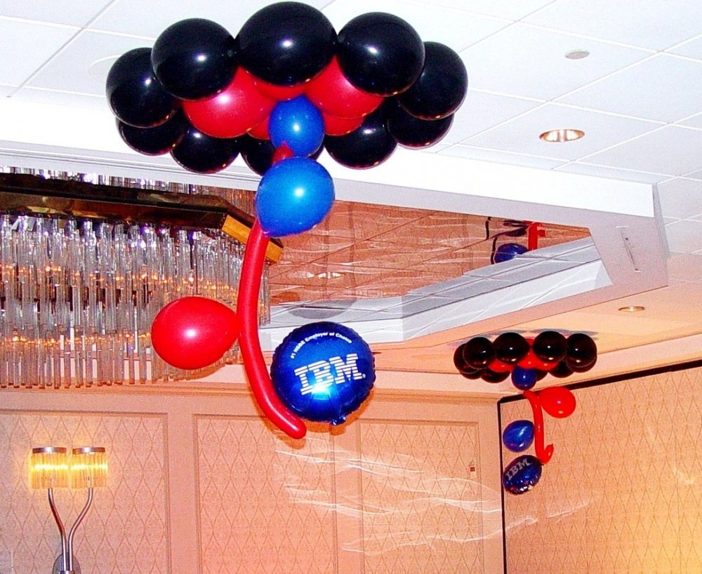 Corporate events basic balloon ceiling decor for Balloon decoration for corporate events