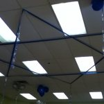 Ribbon Magen David on the Ceiling
