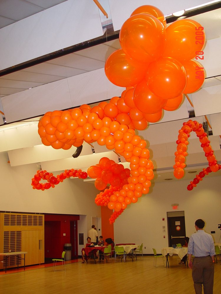 Unusual balloon structures part 4 ceiling balloon for Balloon ceiling decoration