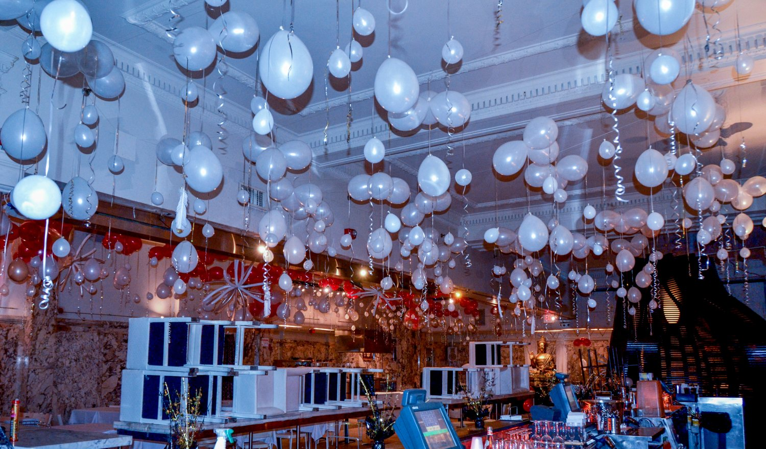 Ceiling Balloon Decoration - Hanging Balloon Arrangements